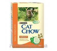 Cat Chow (Кет Чоу) Adult Корм для взрослых кошек с курицей и индейкой 400 г