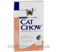 Cat Chow (Кет Чоу) Sensitive Корм для кошек с чувствительным пищеварением 400 г