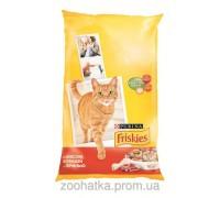 Friskies (Фрискас) Adult корм для кошек с мясом курицей и печенью 10 кг