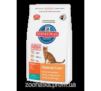Hills Science Plan Feline Adult Optimal Care™ Тунец (10 кг)