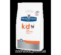 Hills PD Feline k/d (5 кг) заболевания почек, почечная недостаточность, сердечная недостаточность