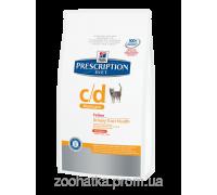 Hills PD Feline c/d Multicare курица (5 кг) заболевания мочевыводящих путей, камни