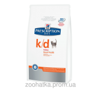 Hills PD Feline k/d (1,5 кг) заболевания почек, почечная недостаточность, сердечная недостаточность