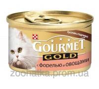 Gourmet Gold (Гурме Голд) Кусочки в подливе с форелью и овощами