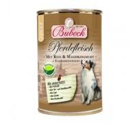Bubeck (Бубек) Pferdefleisch консервы для собак конина, рис, обезжиренный йогурт, отруби (400 г)