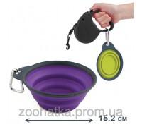 Dexas (Дэксас) Collapsible Travel Cup Миска складная с карабином для собак и кошек 480 мл цвет в ассортименте