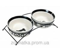 Trixie (Трикси) Eat on Feet Ceramic Bowl Set Набор мисок для собак на подставке 2 х 2600 мл