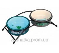 Trixie (Трикси) Eat on Feet Ceramic Bowl Set Набор мисок для собак на подставке 2 х 300 мл