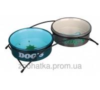 Trixie (Трикси) Eat on Feet Ceramic Bowl Set Набор мисок для собак на подставке 2 х 500 мл