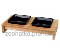 Trixie (Трикси) Bowl Set Ceramic&Wood Набор керамических мисок на деревянной подставке 2 × 200 мл