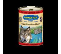 Winner Plus (Виннер Плюс) консервы для собак с цыпленком лососем и рисом 400 г