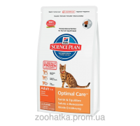 Hills Science Plan Feline Adult Optimal Care™ Ягненок (10 кг)