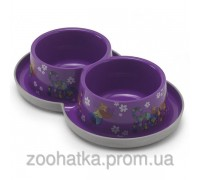 Moderna (Модерна) Double Trendy Dinner FF violet миска для кошек и собак двойная 350 мл