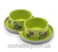 Moderna (Модерна) Double Trendy Dinner FF fun green миска для кошек и собак двойная 350 мл