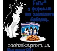 Felix Fantastic (Феликс) влажный корм для кошек форель и зеленая фасоль в желе
