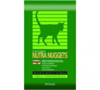 Nutra Nuggets Indoor Hairball Control Formula (10 кг) Корм Нутра Наггетс Хэрболл для кошек (зеленая)