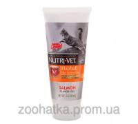 Nutri-Vet (Нутри-Вет) Hairball Salmon flavor гель для выведения шерсти добавка для котов с лососем