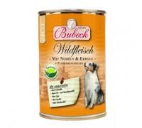 Bubeck (Бубек) Wildfleisch консервы для собак вермишель, дичь, горох, отруби (400 г)