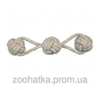 Trixie (Трикси) Denta Fun Playing Rope with Woven-in Balls Игрушка для собак веревка с шариками