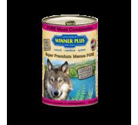 Winner Plus (Виннер Плюс) консервы для собак с тушеной бараниной говядиной и индейкой 400 г